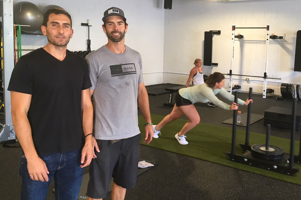 Matt Ladin, left, and Craig Donen started The Base, a gym in the Funk Zone that opened in August.