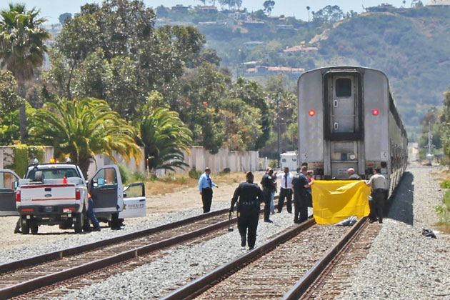 Authorities are investigating another apparent 'suicide by train' in Santa Barbara. (Joshua Molina / Noozhawk photo)