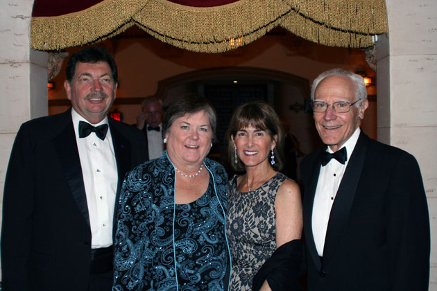 Opera Santa Barbara board member Sarah Chrisman and her husband, Roger, at left, with Anne and Michael Towbes. (Melissa Walker / Noozhawk photo)