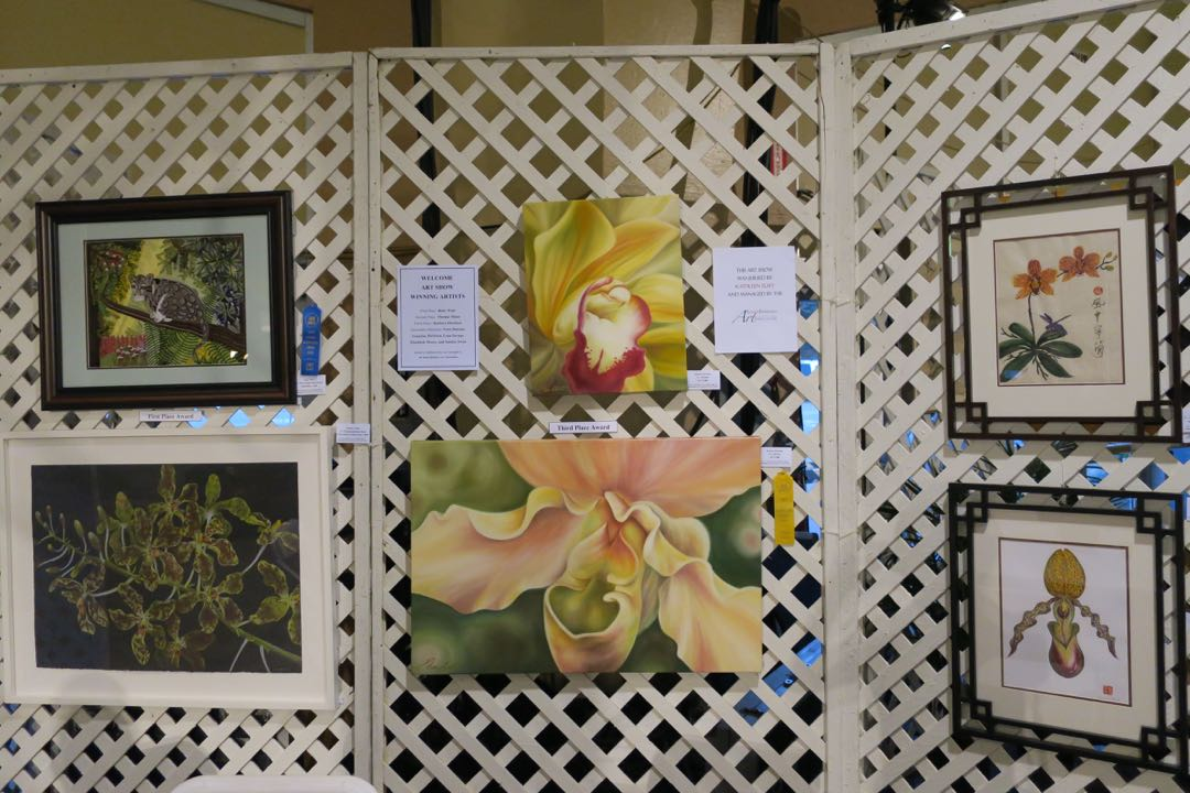 Orchid artwork is featured, as well.