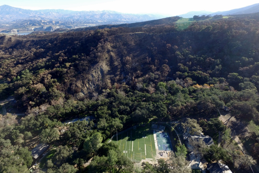 Several buildings at the Circle V Ranch Camp & Retreat Center in the Santa Ynez Valley were damaged or destroyed by the Whittier Fire. St. Vincent de Paul of Los Angeles, which owns and operates the youth camp, expect to reopen the facility in 2019.