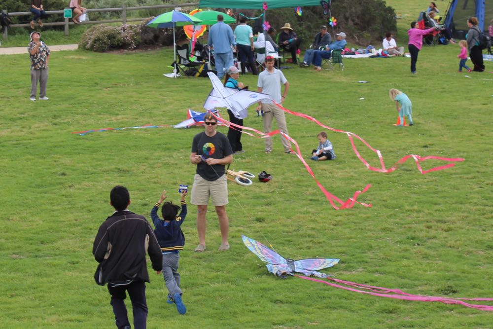 Kites resembling butterflies and spacecraft were among those being flown Sunday at the 31st annual Santa Barbara Kite Festival on the Santa Barbara City College's West Campus.
