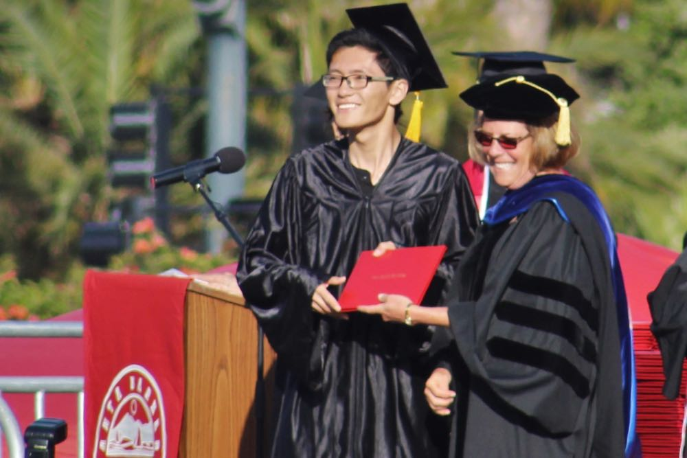 Friday was a bittersweet day for SBCC President Lori Gaskin, who is retiring Aug. 1 and was presiding over her final commencement.