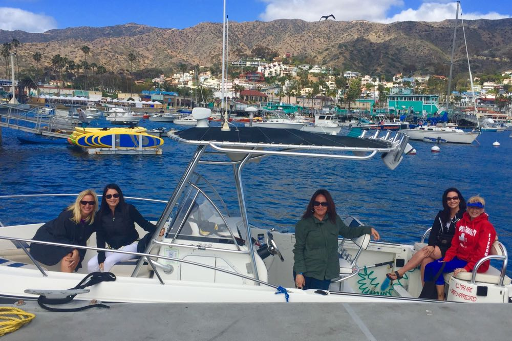 The Gang charters a boat from Catalina Coastal Tours & Fishing.