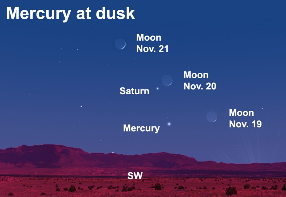 Find the elusive planet Mercury after dark this week.