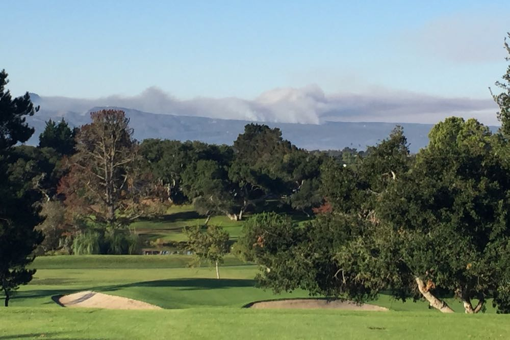 The view to the southwest from Village Country Club in Vandenberg Village.