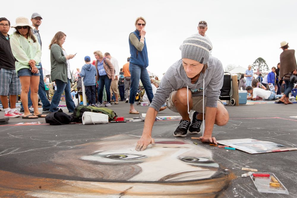 A chilly May gray day was no deterrent for thousands of visitors at the 30th annual I Madonnari Italian Street Painting Festival on Sunday at the Santa Barbara Mission. The three-day festival concludes Monday.
