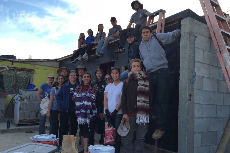 90 students from Santa Barbara High School's Multimedia Arts & Design Academy recently traveled to Mexico to help build housing for local families.