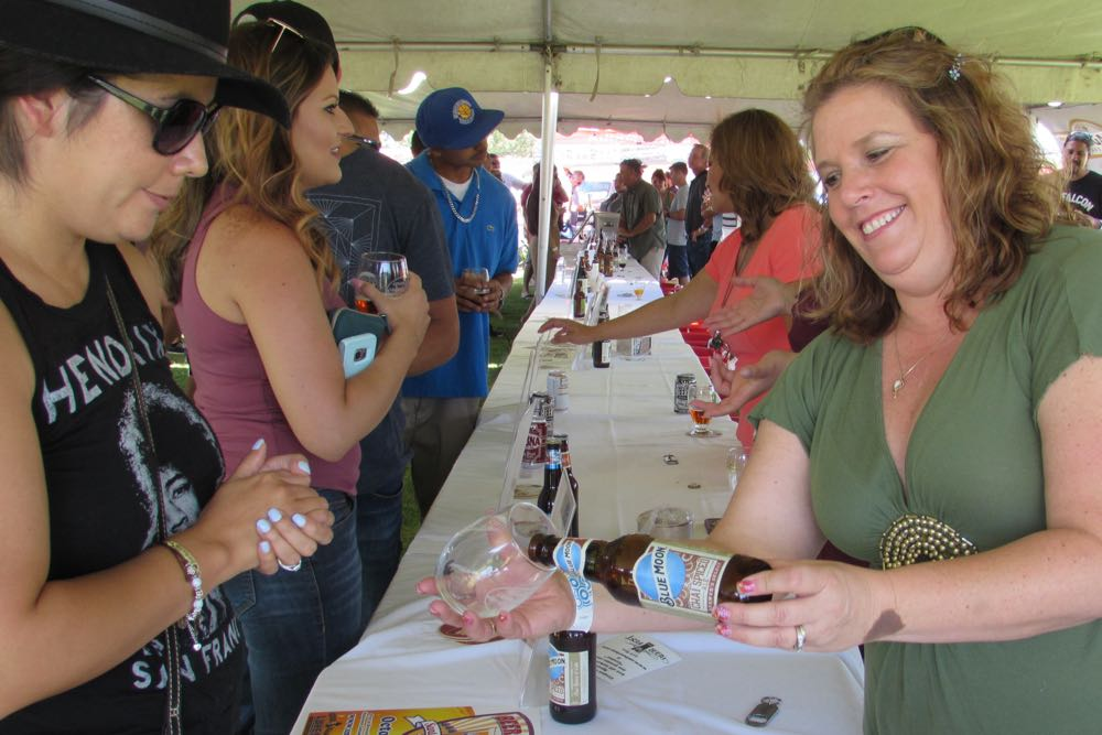 Tastings of assorted beers were poured for attendees at the Kiwanis Grapes & Grains held along with the Autumn Arts Festival on Saturday in Santa Maria.