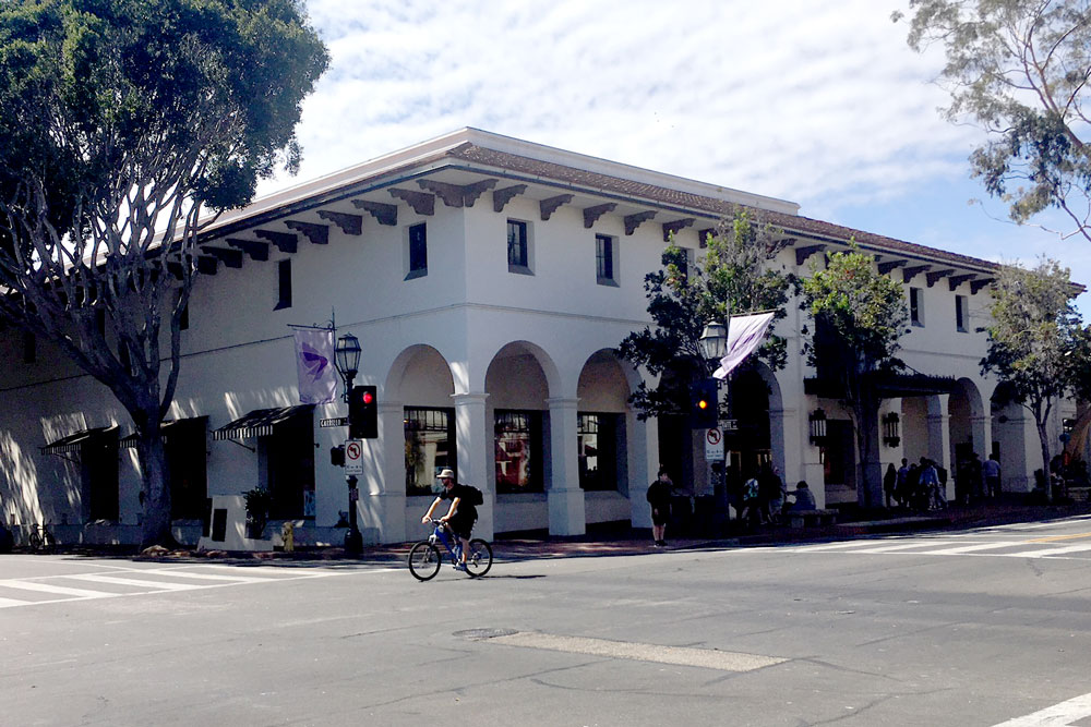Saks Fifth Avenue building on State Street in downtown Santa Barbara