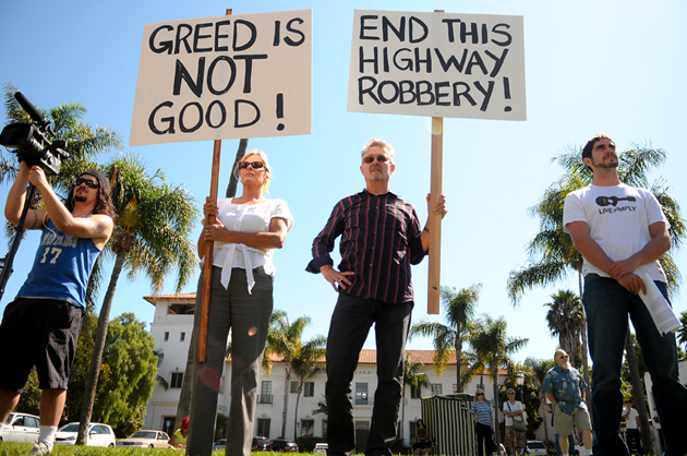 Occupy Santa Barbara, like the worldwide movement, aims to create an avenue for community members to talk about problems and possible solutions.