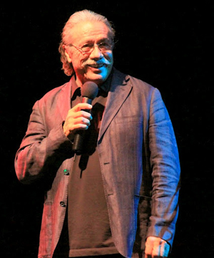 Actor Edward James Olmos served as the host for the benefit concert. (L. Paul Mann photo)