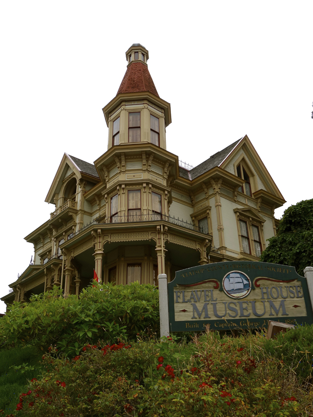 the Flavel House Museum, a Queen Anne-style mansion restored in the late Victorian style.