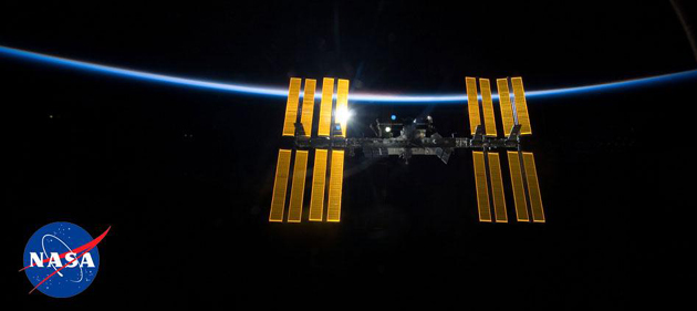 The international space station's orbit will pass over Southern California in the spring. (NASA photo)