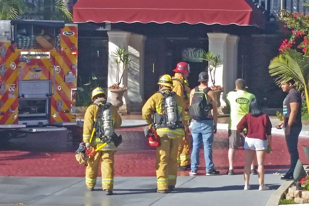Firefighters responded Wednesday afternoon to a fire that broke out at the Best Western Carpinteria Inn at 4558 Carpinteria Ave.