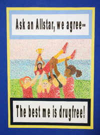 First-place poster submission by fourth-grader Irais Pachecho with Isla Vista Recreation & Park District. (CADA photo)