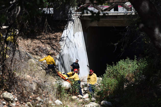 A man was found dead in a Santa Barbara creek bed Monday morning, apparently of natural causes.