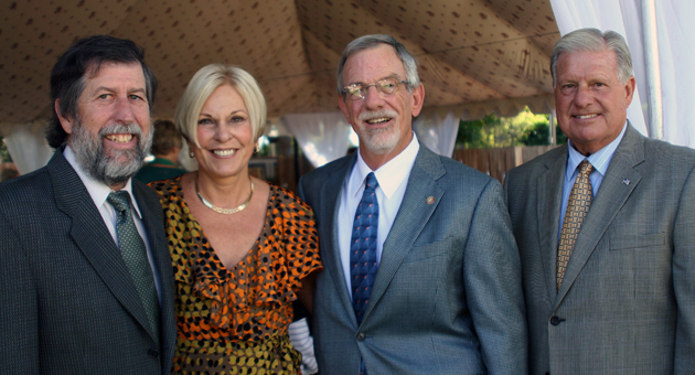 "2011 Pillar of Strength recipients Bruce Read, left, and Peggy Fletcher with Casa Serena Executive Director Craig Belknap and board President Mike Olsen at last Saturday's ""Celebrating Recovery!"" luncheon at the Santa Barbara Club."