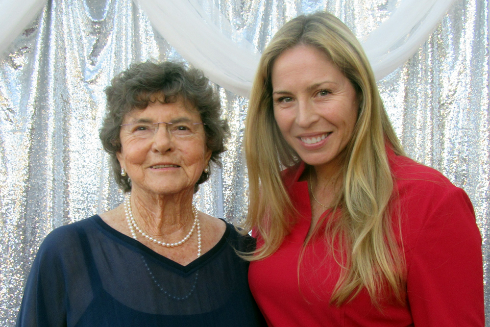 "Honoree Betty Brown with her granddaughter Laura Sanchez at Girls Inc. of Carpinteria's ""An Evening in Bloom"" gala held Sept. 24 at Westerlay Orchids."