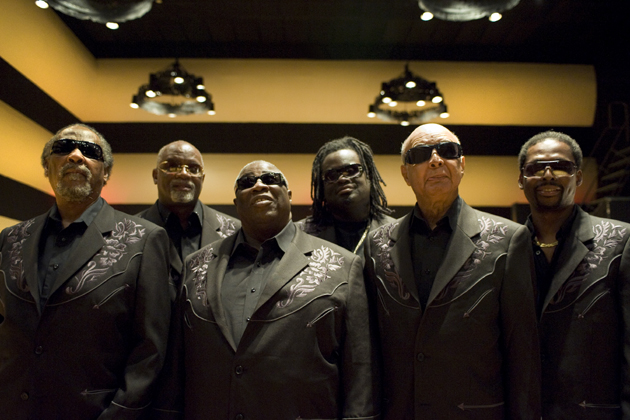 <p>Ben Moore, from left, Ricky McKinnie, Billy Bowers, Tracy Pierce, Jimmy Carter, Joey Williams are The Blind Boys of Alabama.</p>
