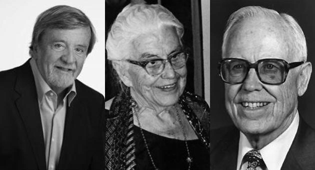 Among the many notable people who have been honored as man or woman of the year in Santa Barbara are, from left, Robert J. Emmons, Pearl Chase and Selmer Wake. This year's recipients will be announced Thursday by the Santa Barbara Foundation. (Contributed photos)