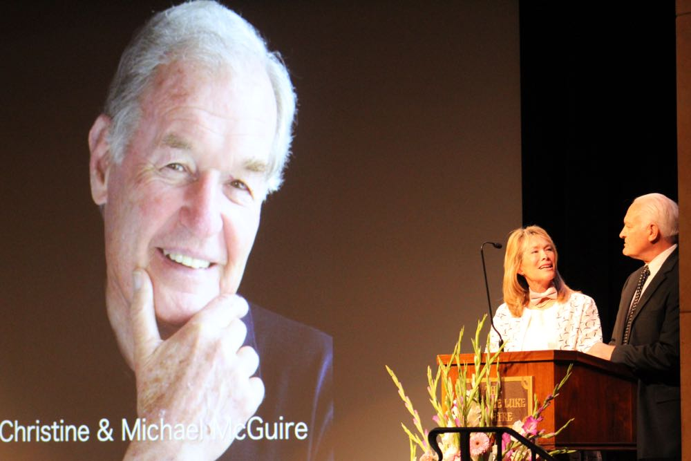 "While paying tribute to the late Larry Crandell, Donna Christine ""D.C."" and Michael McGuire recalled how he first introduced them. The McGuires were among nearly two dozen friends and family members who spoke at Saturday's celebration of Crandell's life at The Marjorie Luke Theatre on the campus of Santa Barbara Junior High School."
