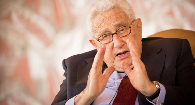 <p>Henry Kissinger, former secretary of state and a Nobel Peace Laureate, speaks Wednesday at a Westmont College-sponsored luncheon at the Coral Casino in Santa Barbara.</p>