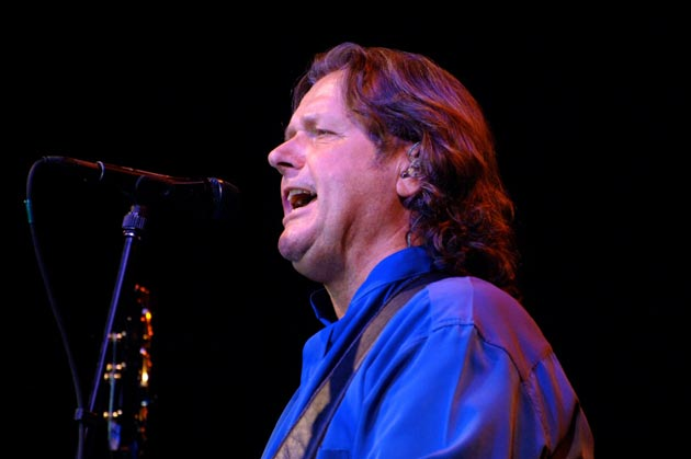 Bassist/vocalist John Wetton performs with the rest of Asia last Thursday at the Chumash Casino Resort. (Gary Lambert / Noozhawk photo)