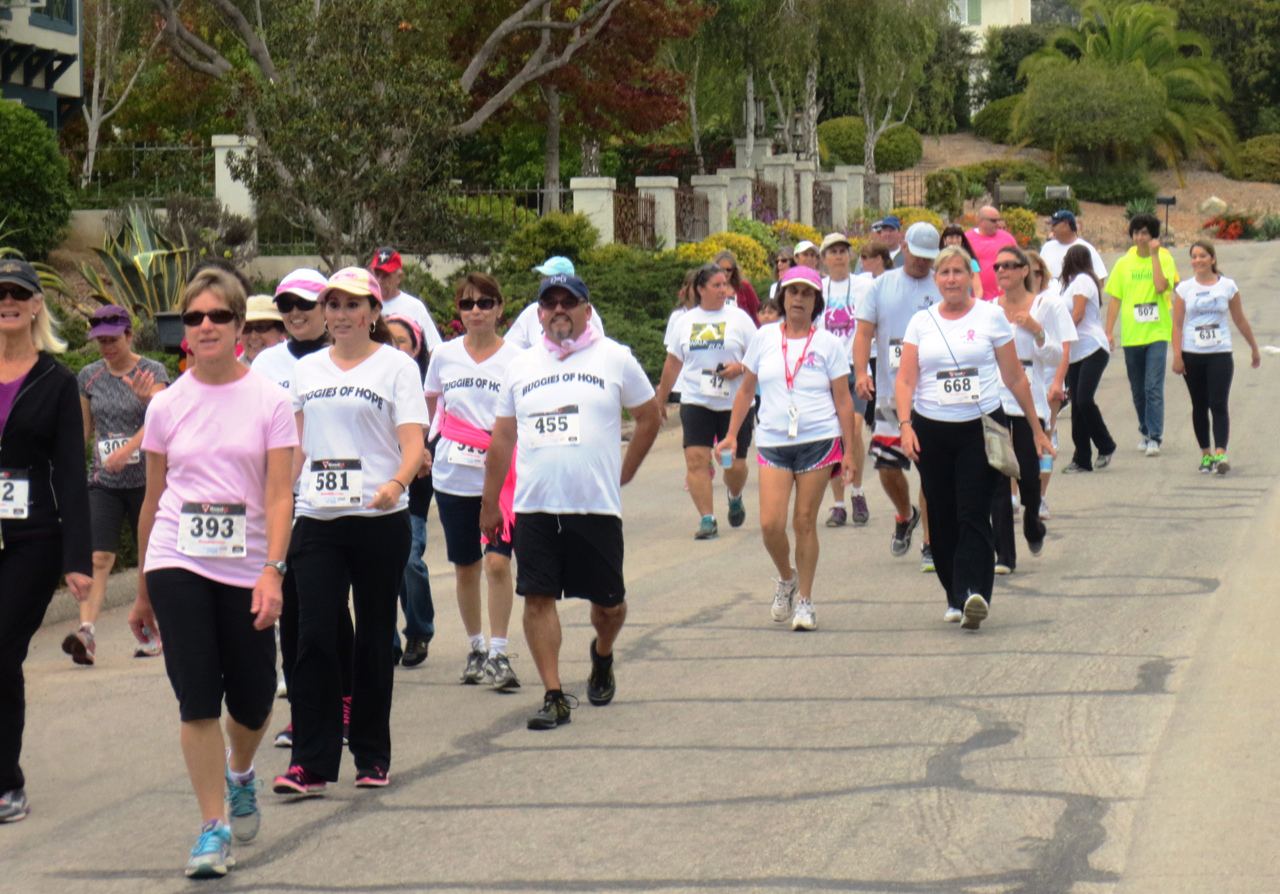 Walkers keep up a good pace during the 22nd annual Cancer Center Walk/Run in Montecito benefiting the Cancer Center of Santa Barbara with Sansum Clinic.