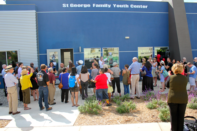 The new St. George Family Youth Center replaces a doublewide trailer where the Youth Family Services YMCA previously offered services in Isla Vista.
