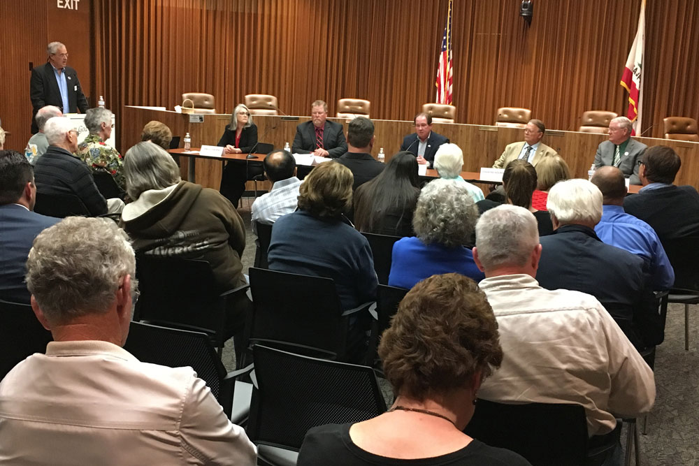 Two candidates for mayor and three candidates for City Council participated in a forum Thursday in Lompoc.