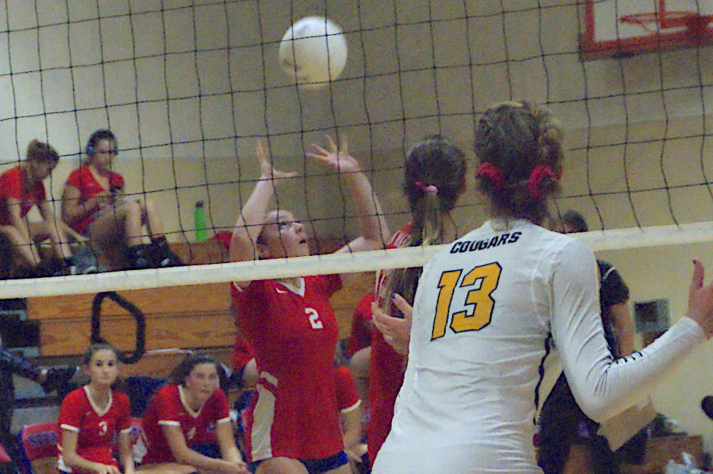 Setter Taylor Hantgin effectively spread the ball around for San Marcos in its sweep of Ventura at the Thunderhut.