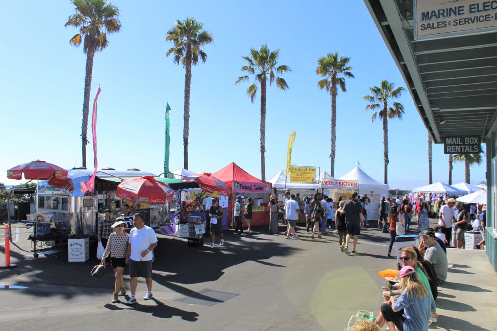 A market on the west end of the Santa Barbara Harbor & Seafood Festival offered a variety of apparel and maritime-themed arts and crafts and knick-knacks.