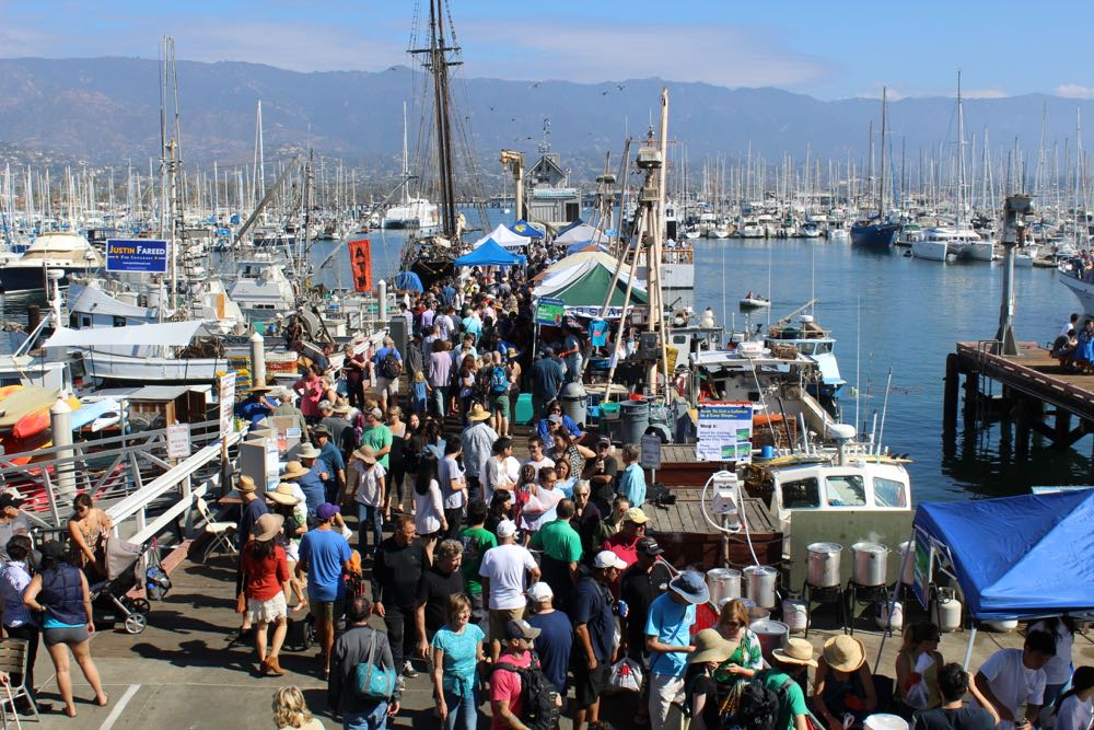 Thousands of locals turned out to sample local seafood and explore the Santa Barbara Harbor as part of the 15th Annual Santa Barbara Harbor & Seafood Festival.