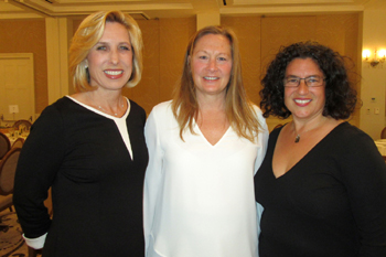 Keynote speaker the Honorable Wendy Greuel, left, with New Beginnings Counseling Center Executive Director Kristine Schwarz and Santa Barbara Mayor Helene Schneider.