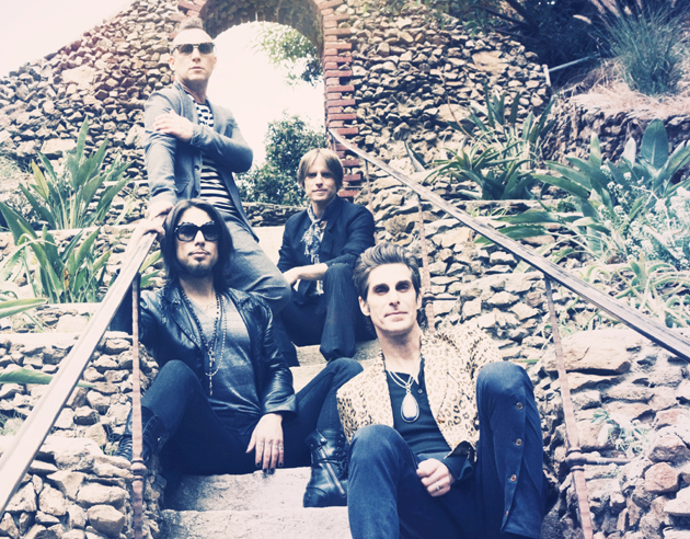Jane's Addiction is coming to the Santa Barbara Bowl on Sunday night. The band consists of, clockwise from bottom right, Perry Farrell, Dave Navarro, Stephen Perkins and Chris Chaney. (Courtesy photo)
