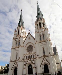 Cathedral of St. John the Baptist. Click here for a Noozhawk photo gallery. (Judy Crowell / Noozhawk photo)