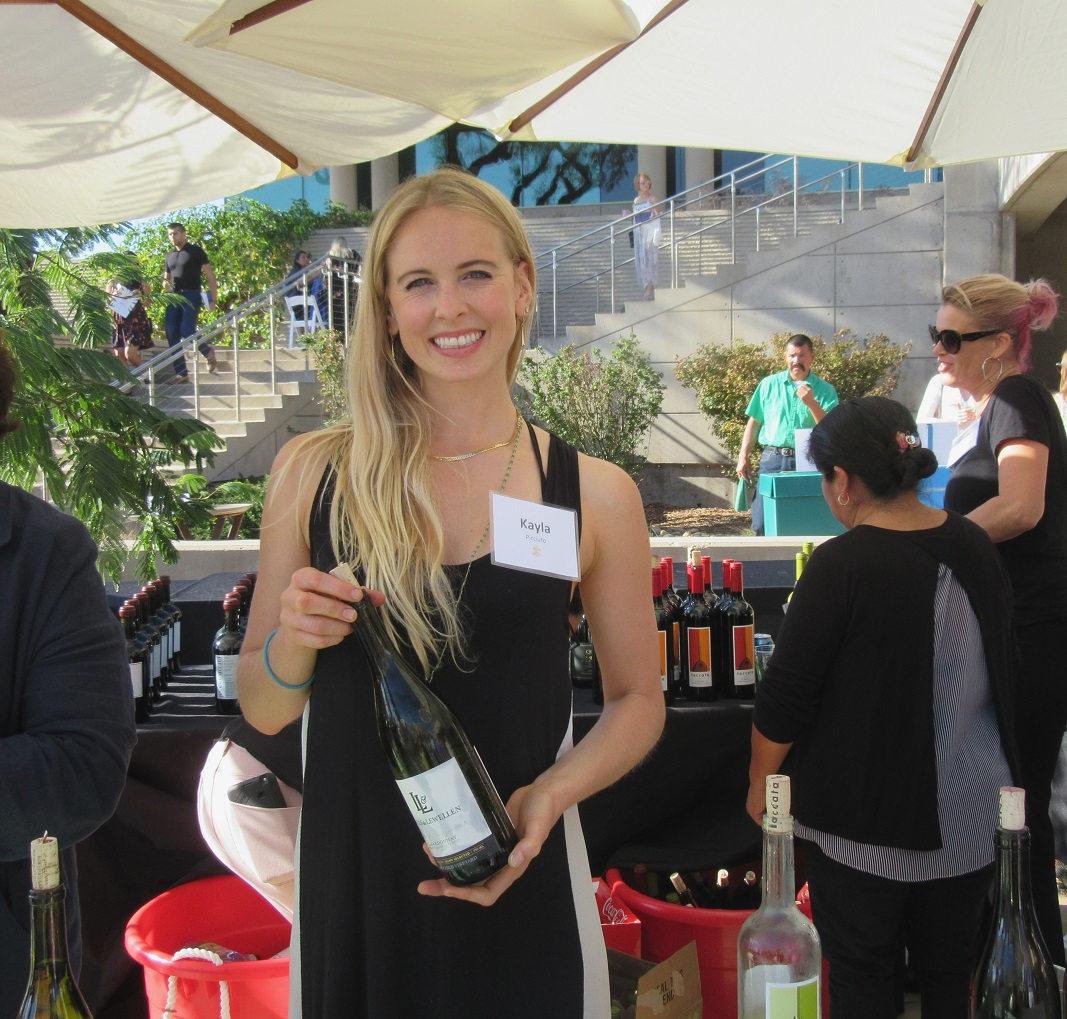 Kayla Picciuto of Lucas & Lewellen Estate Vineyards generously poured wine at the event.