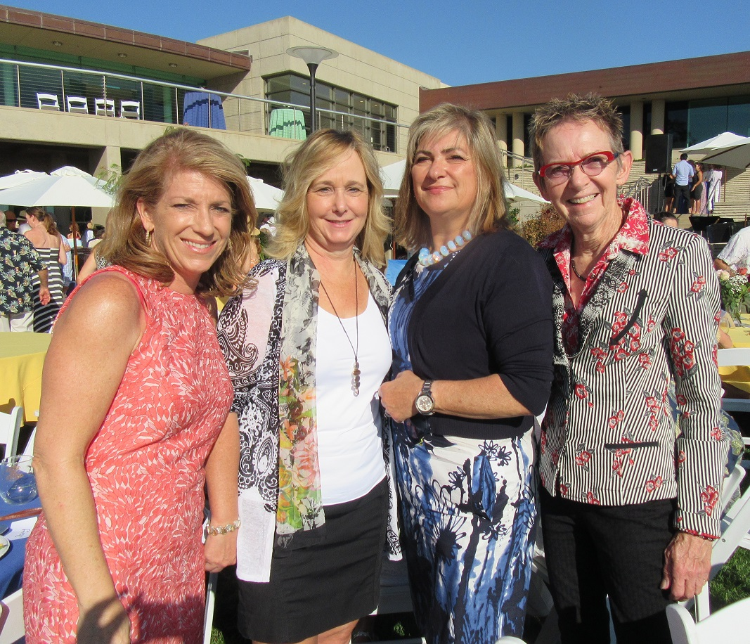 From left, Lesley Hall, Marcella Young, Stacy Borek and 20-year sponsor Kate Silsbury.