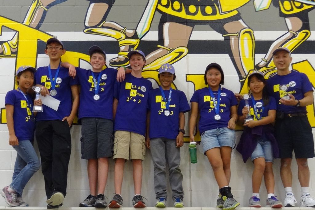 Team FLL & Beyond: 2 squared + 3 is all smiles after winning a Santa Maria qualifying tournament last fall.