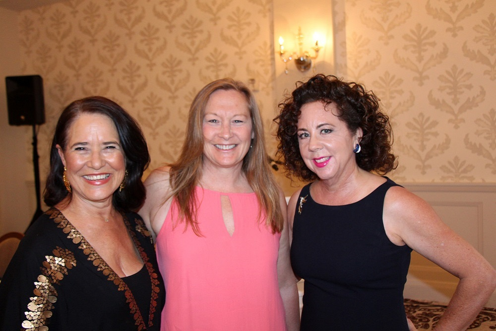 Event producer Judi Weisbart, left, New Beginnings Counseling Center Executive Director Kristine Schwarz and board president Diane Pannkuk at New Beginnings' fourth annual Changing Lives Gala Dinner held Sept. 29 at the Belmond El Encanto.