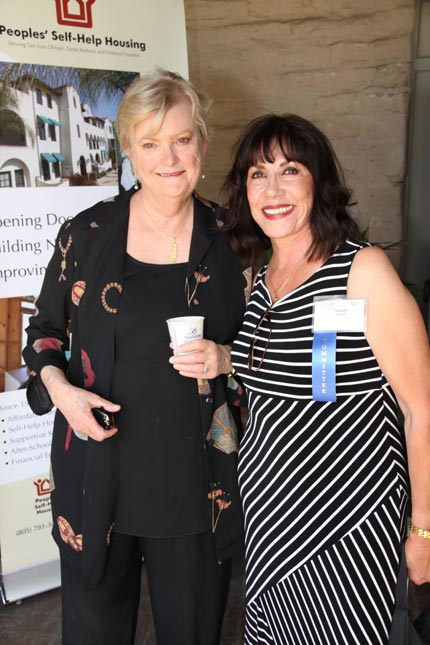 Taste of Hope committee co-chair Yolanda Baptiste and Peoples' Self-Help Housing President Jeanette Duncan enjoy the Taste of Hope fundraising event Oct. 14 at the Santa Barbara Historical Museum.