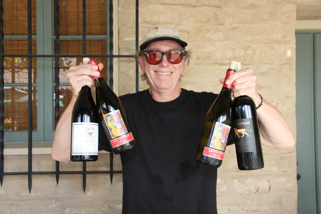 Erik Siering was happy to help pour Qupe and Lion's Peak wines.