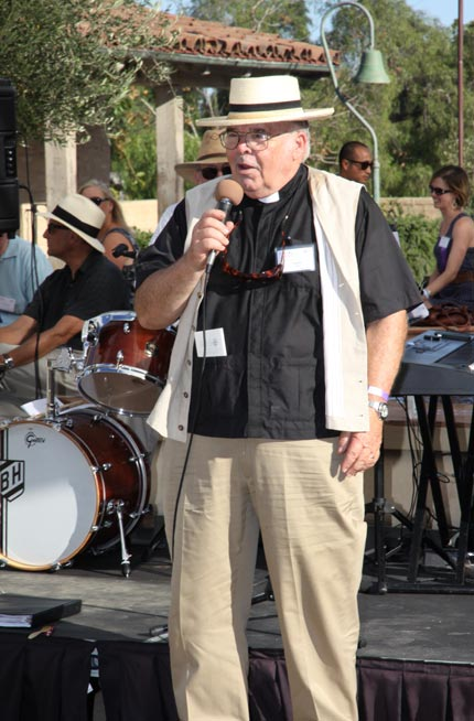 Event co-chair the Rev. Charles Stacy, rector emeritus of St. Mark's Episcopal Church in Santa Ynez.