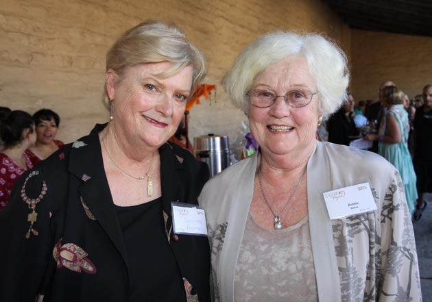 Peoples' Self-Help Housing President Jeanette Duncan with honorary co-chair Bobbie Rubin.