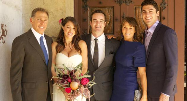 The Solakian family after wedding bells rang at the Santa Barbara County Courthouse. From left, Randy Solakian, newlywed daughter Deanna and son-in-law Brett Williams, wife Roxanna and son Nicholas. (Solakian family photo)