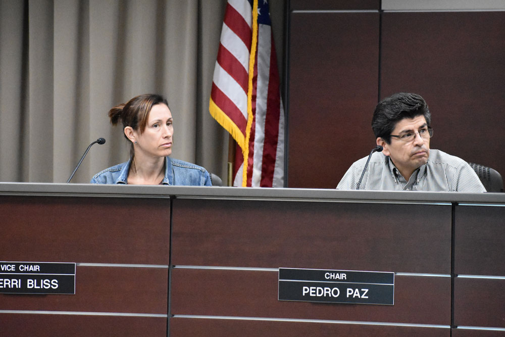 Goleta's Public Engagement Commission on Thursday unanimously voted Pedro Paz, right, to serve as chairman and Sherri Bliss was named vice-chair.