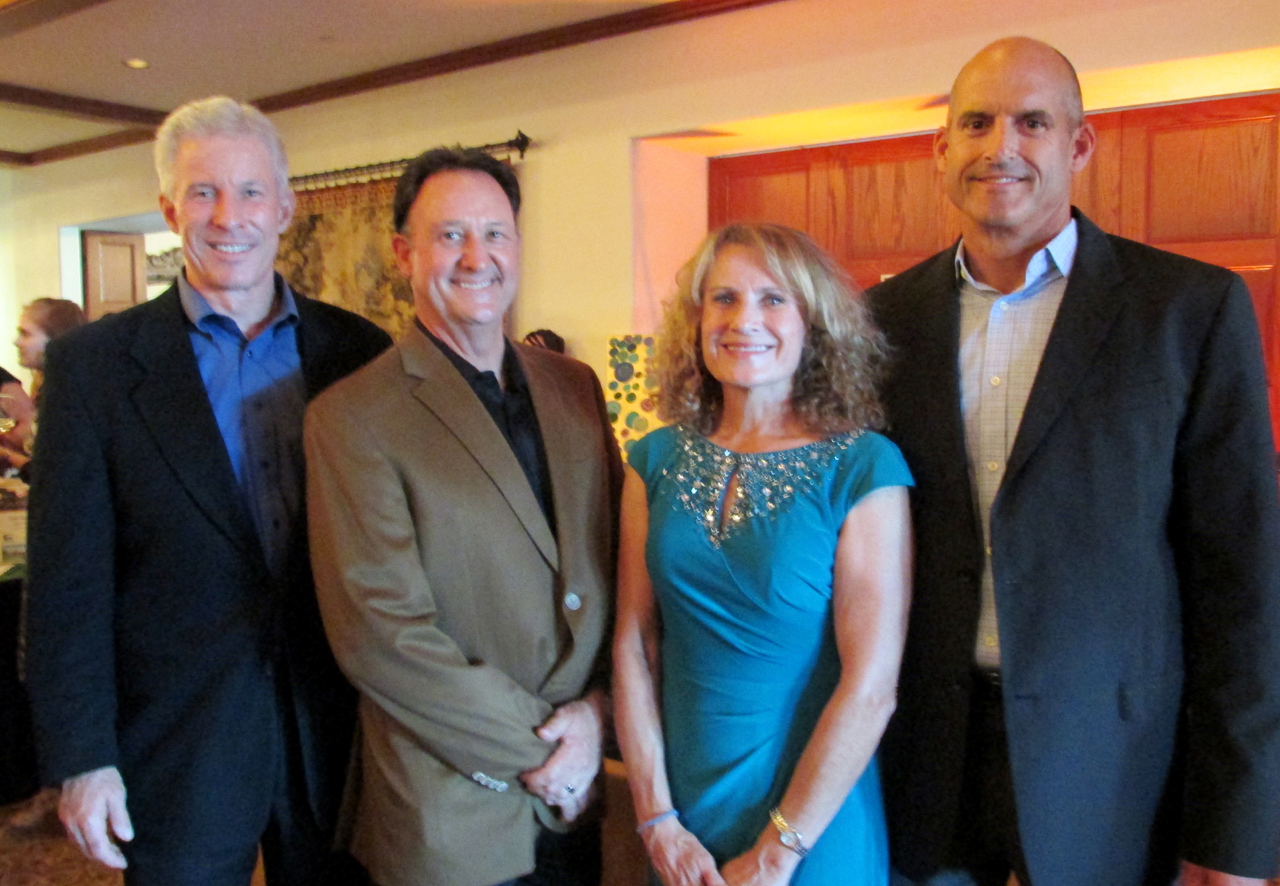 From left, Pathpoint sponsor Tolman and Wiker's Greg VanNess and Jeff Dodds, Pathpoint's Patty Enger and Mike Cage from Mullen and Henzel.