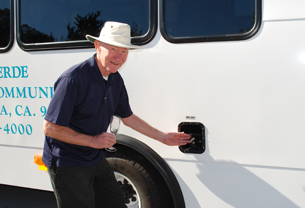 <p>Valle Verde Retirement Community&#8217;s new 24-passenger Compressed Natural Gas (CNG) bus will run entirely on natural gas, which on average is 30 percent to 50 percent less expensive then gasoline.</p>