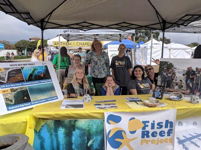 Fis Reef Project and Girl Scouts at Goleta Lemon Festival.